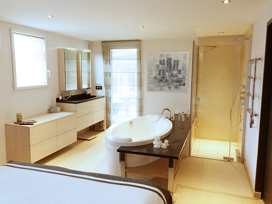 Amenagement chambre parentale avec salle bain amenagement for Mini suite parentale